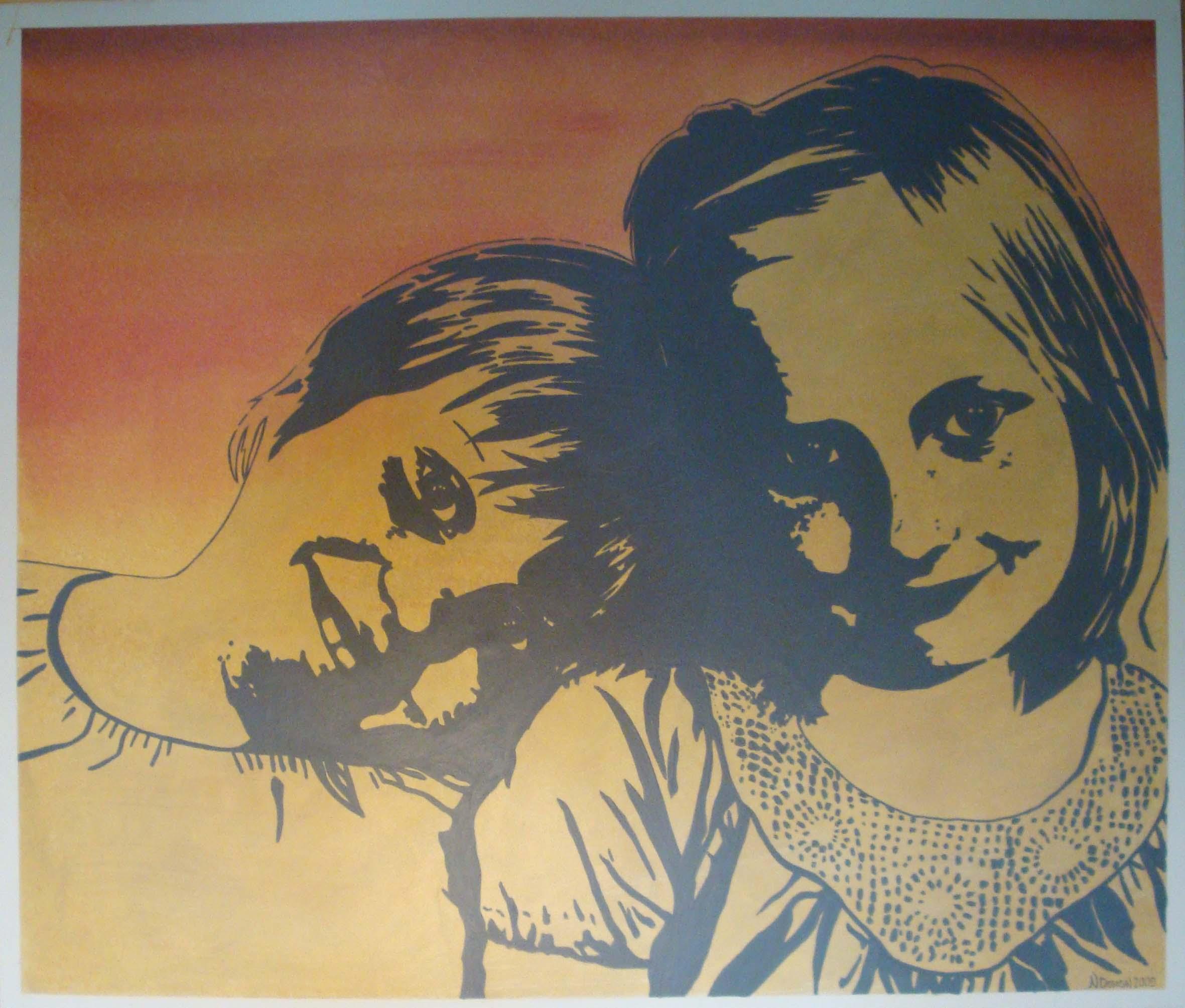 grafiskt porträtt idalina o evelina 2009