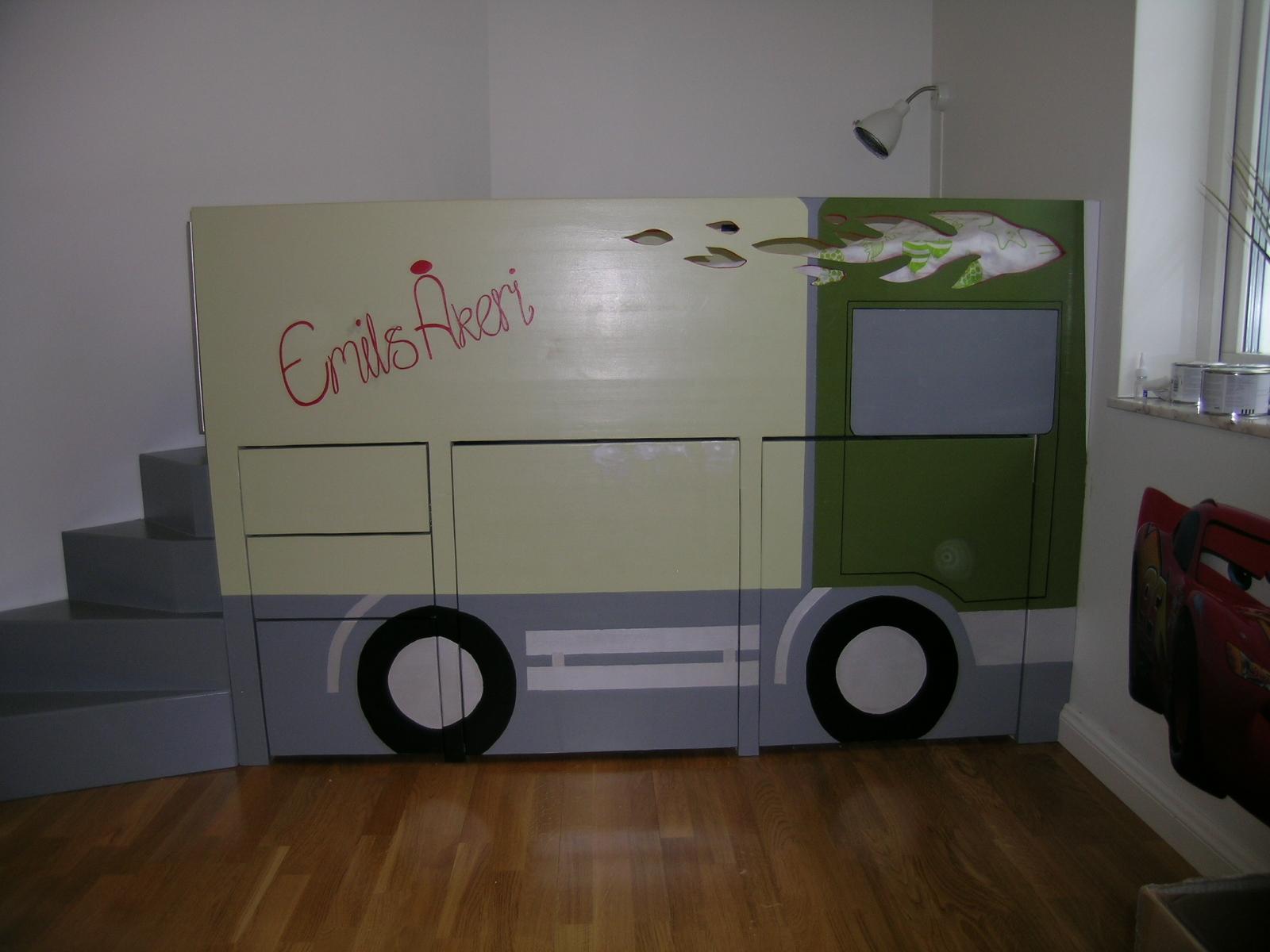 säng-illusionsmåleri lastbil