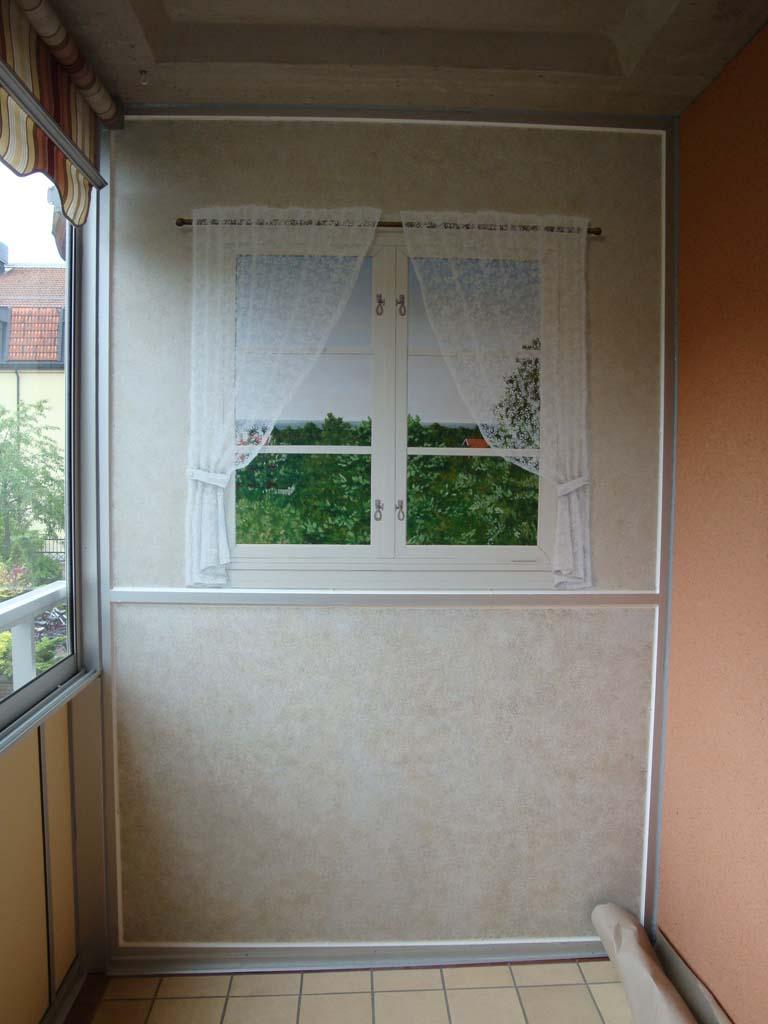 skiljevägg balkong- illusionsfönster