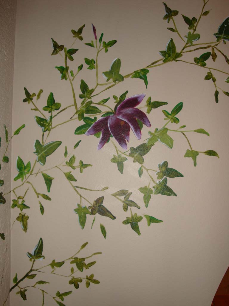 murgröna med blomma